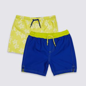 2 Pack Swim Shorts (0-8 Years)