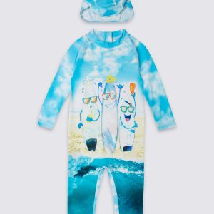 2 Piece Printed Swim Outfit (0-5 Years)