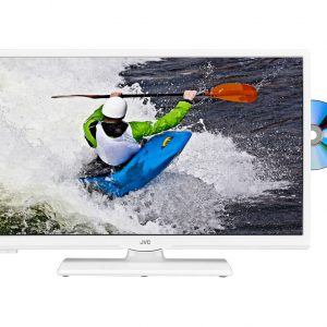 "24"" JVC  LT-24C656 Smart  LED TV with Built-in DVD Player - White"