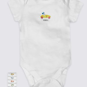 7 Pack Pure Cotton Short Sleeve Bodysuits