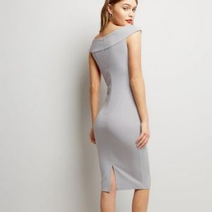 AX Paris Silver Cross Front Midi Dress New Look