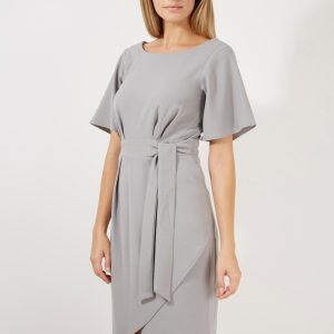 Closet Tie Front Drape Skirt Dress