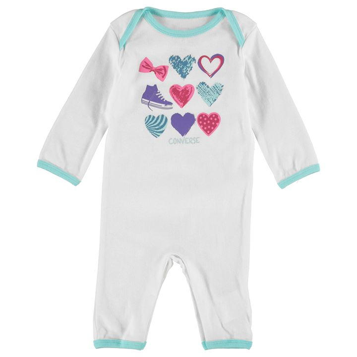 Converse Romper Suit Baby Girls