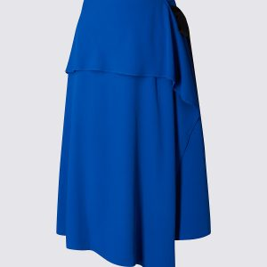 M&S Collection Asymmetric A-Line Midi Skirt