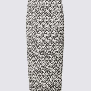 M&S Collection Cotton Blend Animal Jacquard Pencil Skirt
