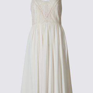 M&S Collection Floral Lace Swing Midi Dress