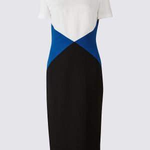 M&S Collection Triangular Colour Block Shift Dress
