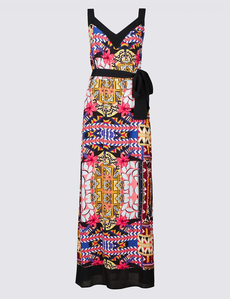 Per Una Printed Maxi Dress with Belt